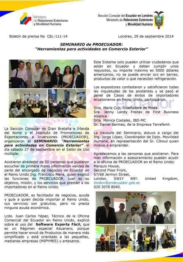 seminario herramientas para actividades en comercio exterior